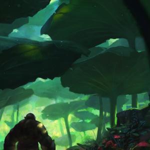 Nasturtium forest